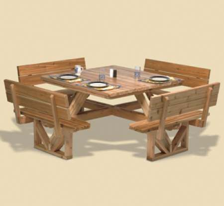 29 Yf16 Square Picnic Table Woodworking Plan Woodworkersworkshop Online Store Picnic Table Woodworking Plans Picnic Table Plans Woodworking Projects