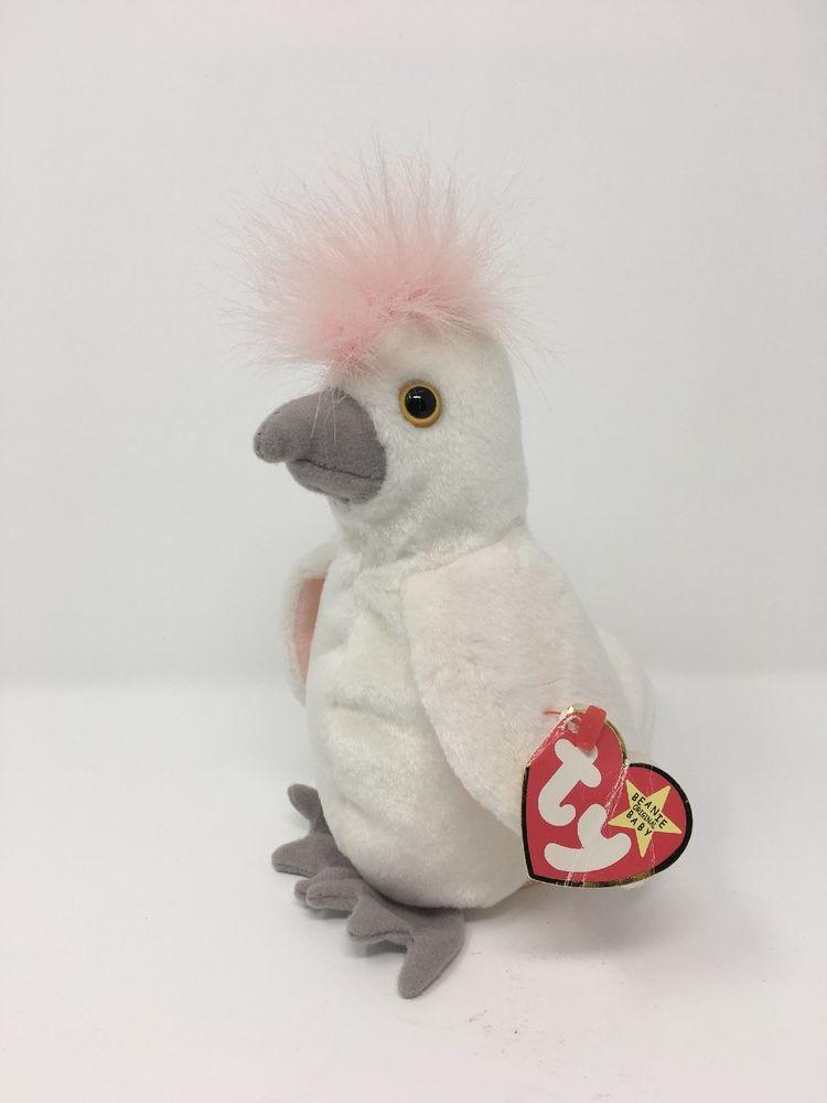 e62121b0487 Vtg 1997 TY Beanie Babies Kuku Rare With Multiple Errors Stuffed Toy Plush  Bird