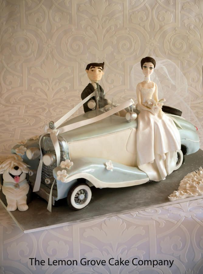 Vintage Car Wedding Cake. by The Lemon Grove Cake Company - http ...