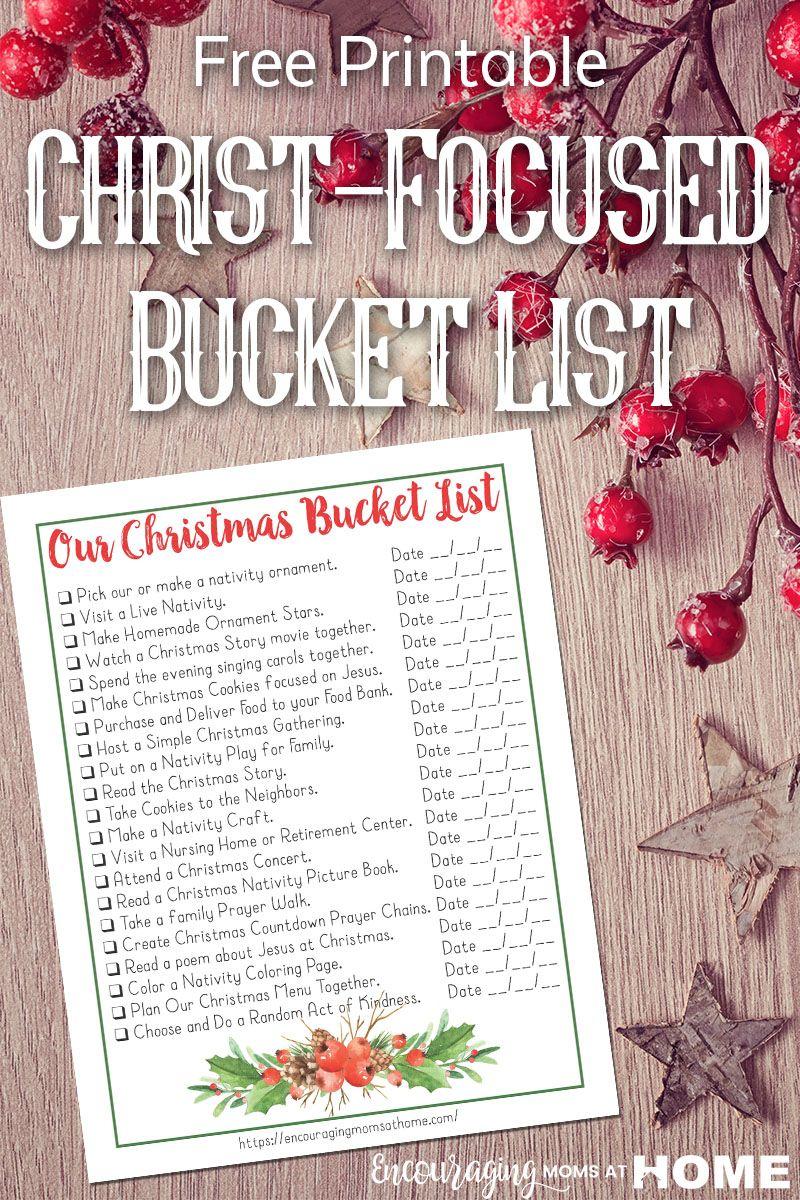 Christ focused christmas bucket list for families free printable christ focused christmas bucket list for families download this free printable kristyandbryce Gallery