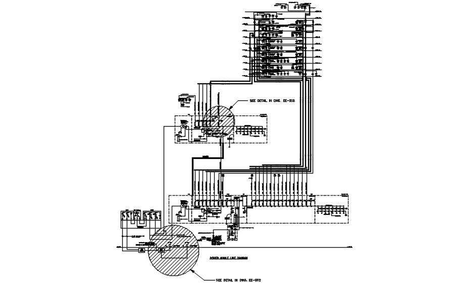 Power Single Line Diagram Typical Section Details Are