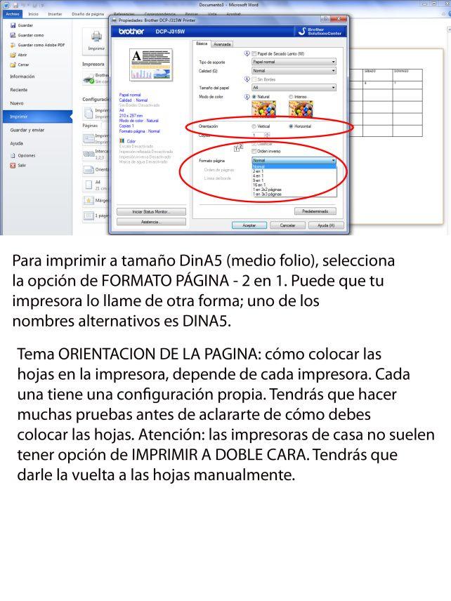 Hacer hojas para agenda o diario en Word Informática Programas - agenda word