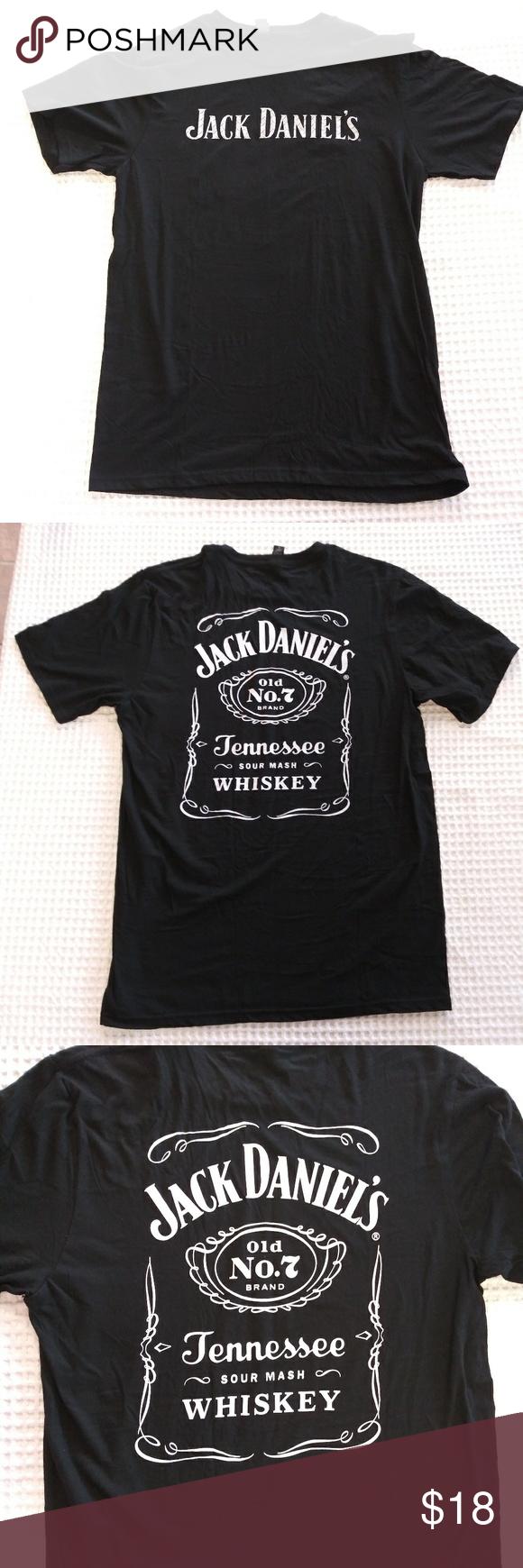 Jack Daniels T Shirt Men S Large Black 2 Sided Mens Tshirts Mens Shirts Shirts [ 1740 x 580 Pixel ]