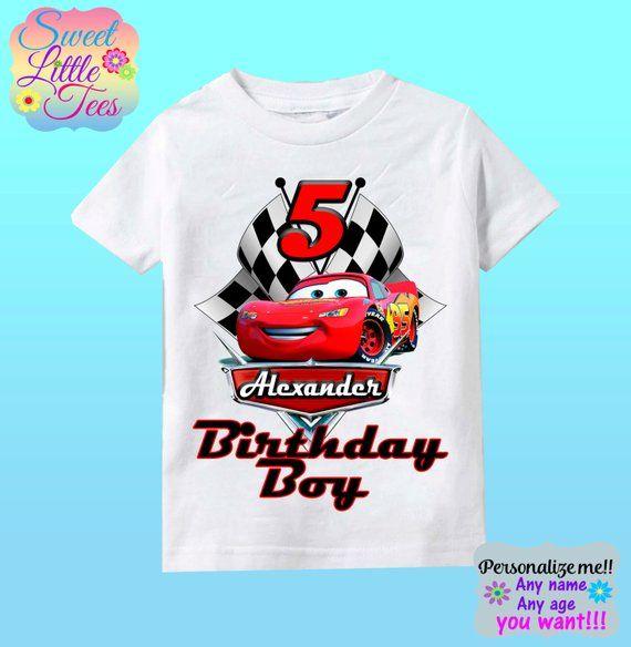 b4d1a19bc4203 Camisa de cumpleaños de Disney Cars - Lightning McQueen y Mater Racer  camiseta rayo mcqueen camisa disney coches cumpleaños camiseta chico 159 EN  SI DESEAS ...