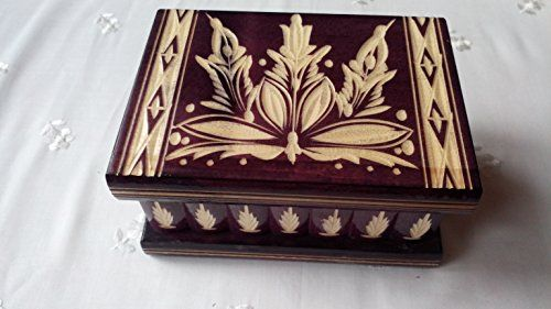 Puzzle box jewelry box magic box new violet wooden mystery box,secret box,tricky box,handcarved wooden box,perfect gift