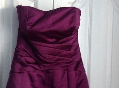 Purple b2 knee #length #bridesmaid/prom #dress uk size 6 good condition,  View more on the LINK: 	http://www.zeppy.io/product/gb/2/262568837459/