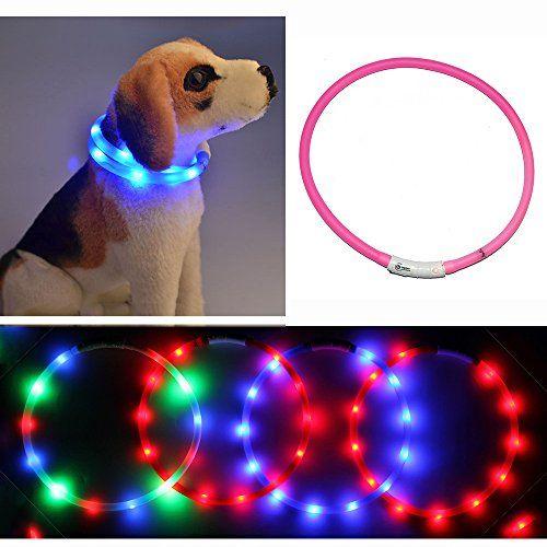 Dog Collar Light Yamay Led Dog Collars For Small Medium Large Dogs Puppy Female Male Girl Boy Usb R Dog Collar Light Large Dog Breeds Personalized Dog Collars