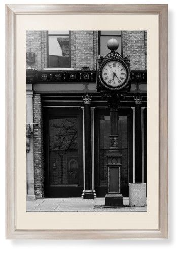 Clock Stand Framed Print, Metallic, Modern, None, Cream, Single piece, 20 x 30 inches, White