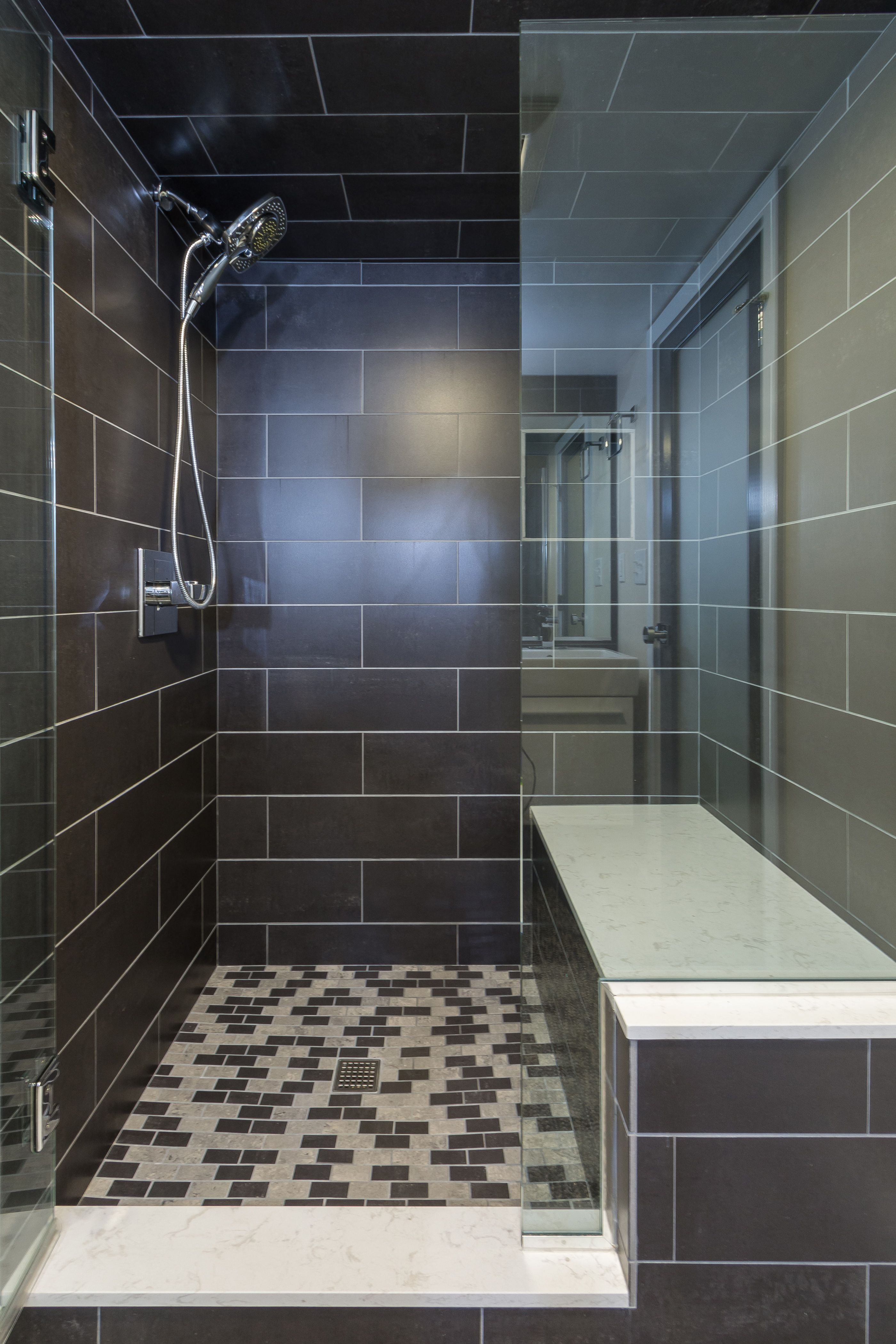Small Bathroom Ideas Low Ceiling basement bath remodel in a space challengedlow ceilings
