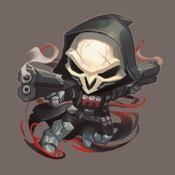 Pin By Davi Lucero On Overwatch Overwatch Wallpapers Overwatch Reaper Chibi Overwatch