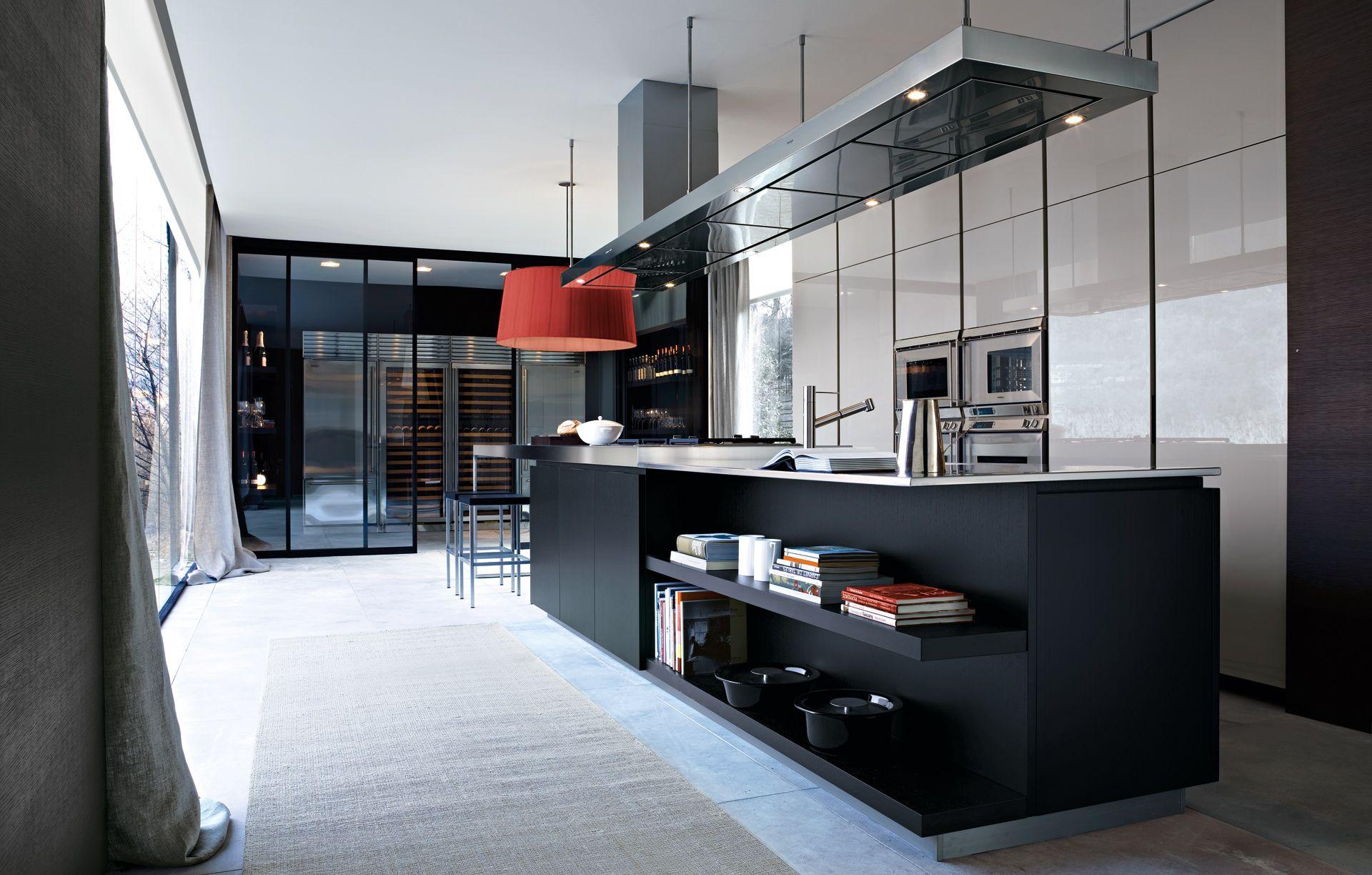 Varenna Mobili ~ Matrix varenna by poliform; cool integration of wine room wall