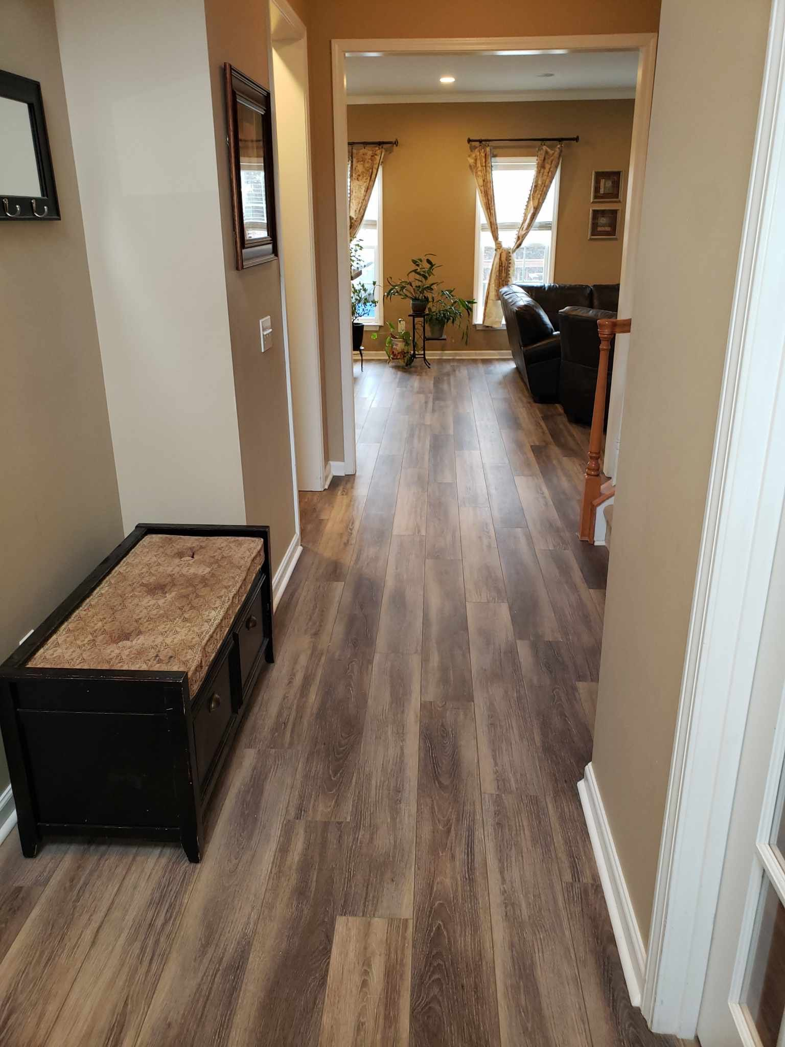 Luxury Vinyl Plank (LVP) installation completed by Flowers