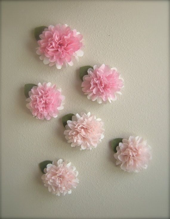 Paper Pom Poms Stick On Wall Make Into A Garland Hang From