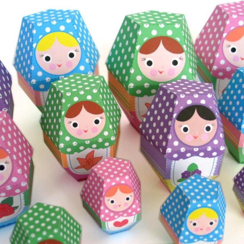 Handmade Toys, Printable Paper Crafts, Kawaii by Fantastic Toys / Rose Matryoshka Nesting Doll