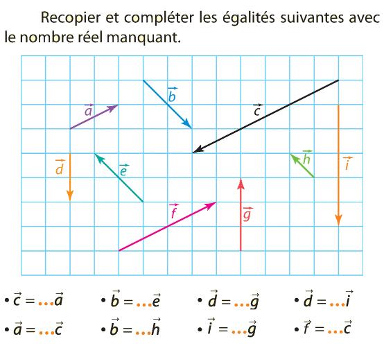 Vecteurs Et Reperes Exercices De Maths En Seconde 2de Vecteur Formules Mathematiques Exercice