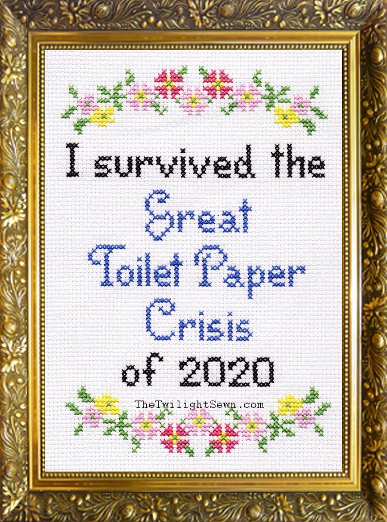 I Survived The Great Toilet Paper Crisis of 2020 – cross stitch pattern pdf download