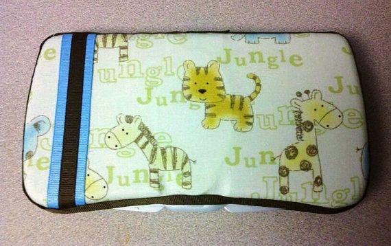 Custom Jungle print baby wipe case by ForHeavensCase on Etsy