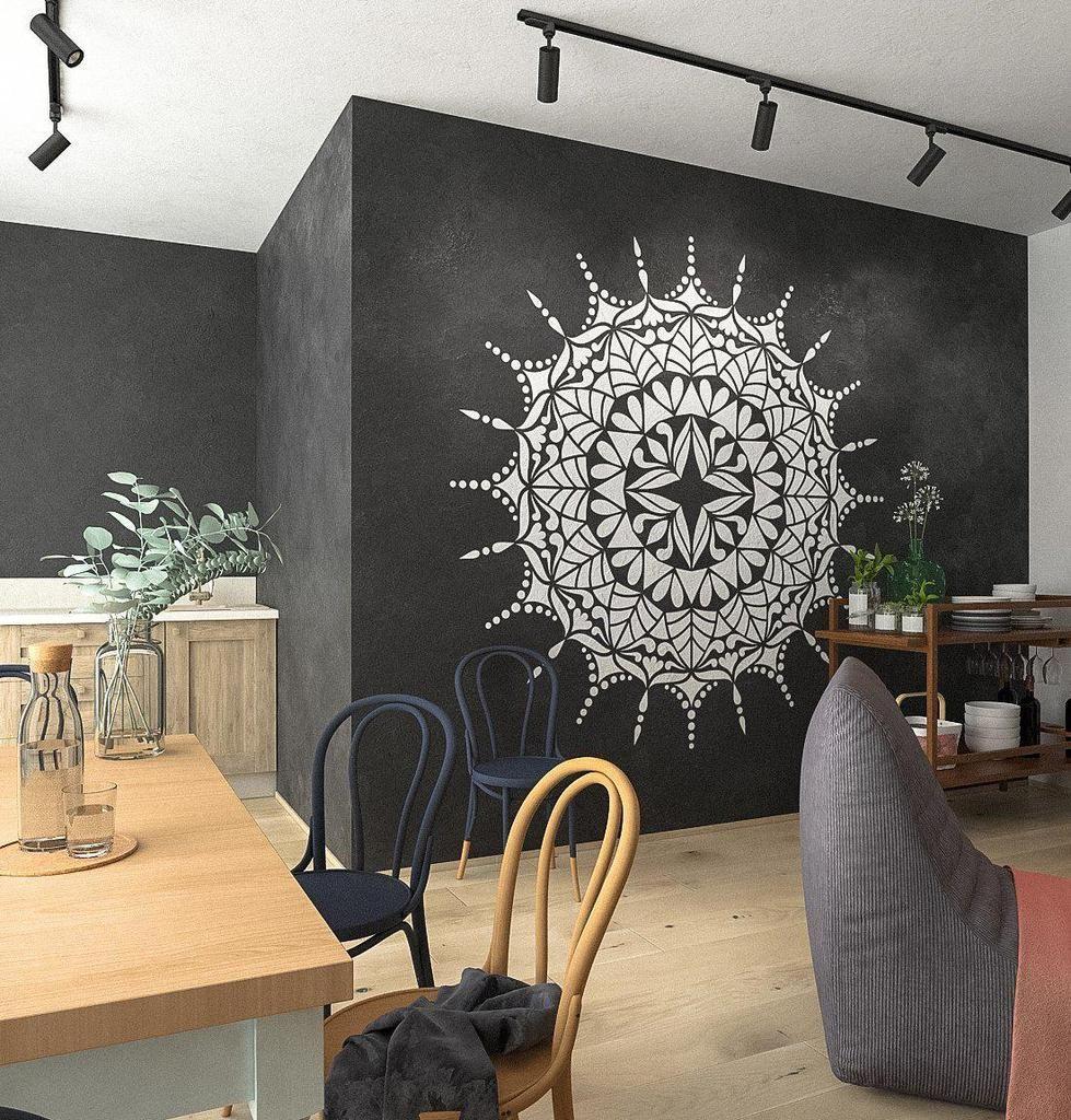 Mandala Stencil Comet Extra Large Mandala Stencils For Wall And