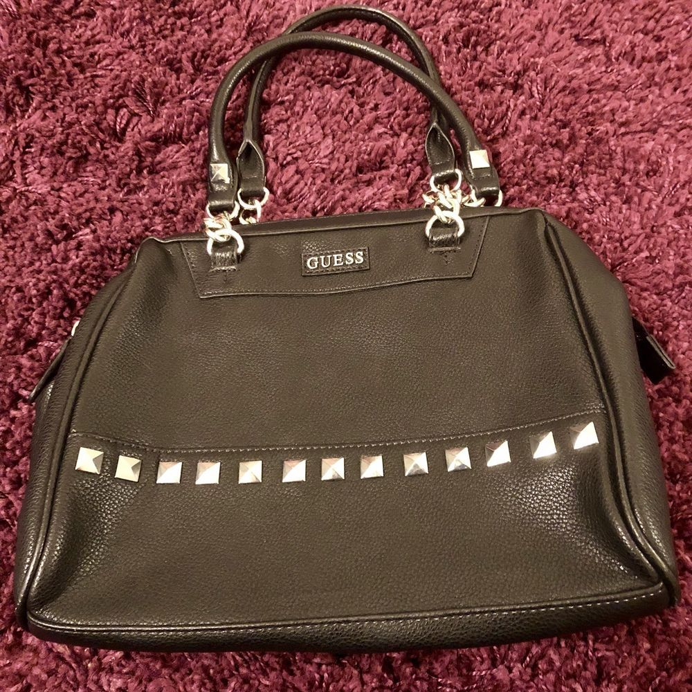Guess Handbag Studded Satchel Chain detail Good