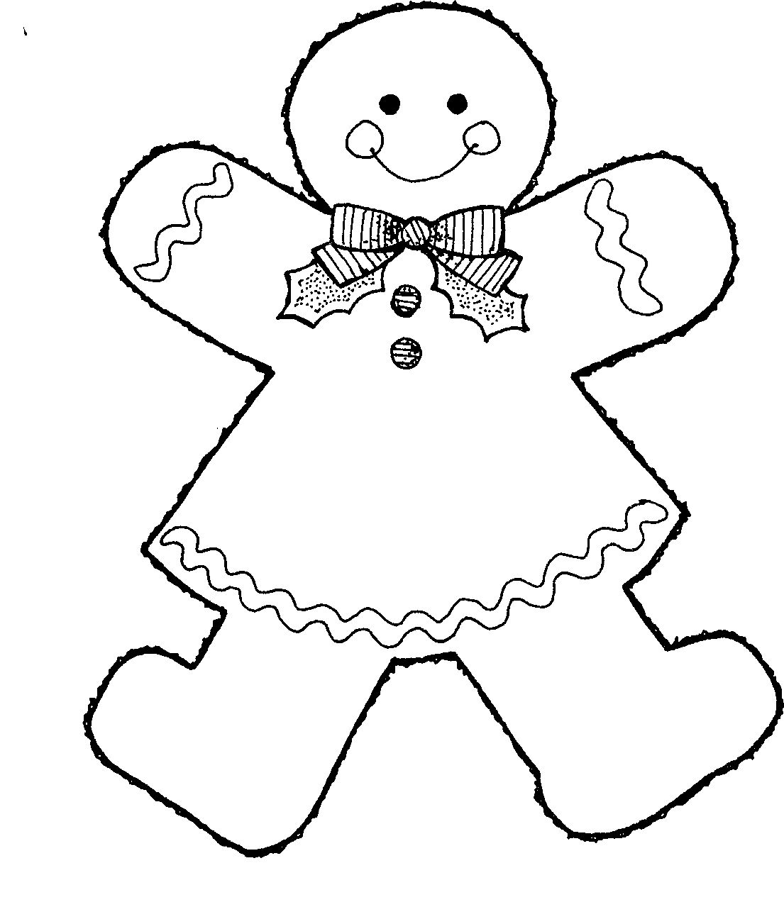 A Large Armoured Gingerbread Coloring Pages Christmas