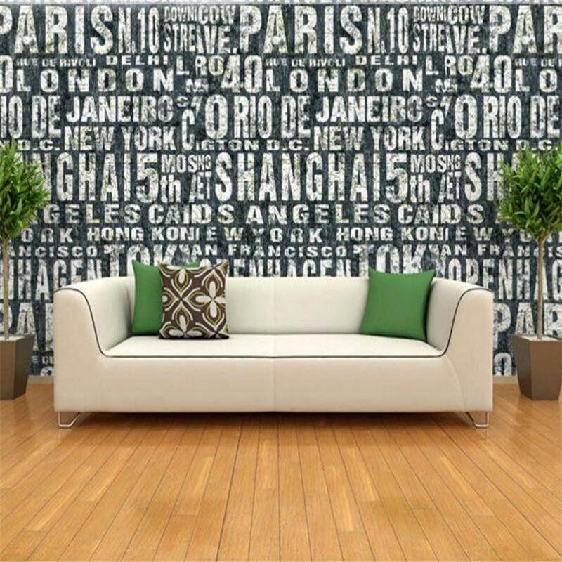 You Buy Some Living Room Furniture Elegant Wallpaper English Letters Retro Fashion Clothing Store Wallpaper Backdrop Living Room Sofa Wall 3d For Walls Di 2020