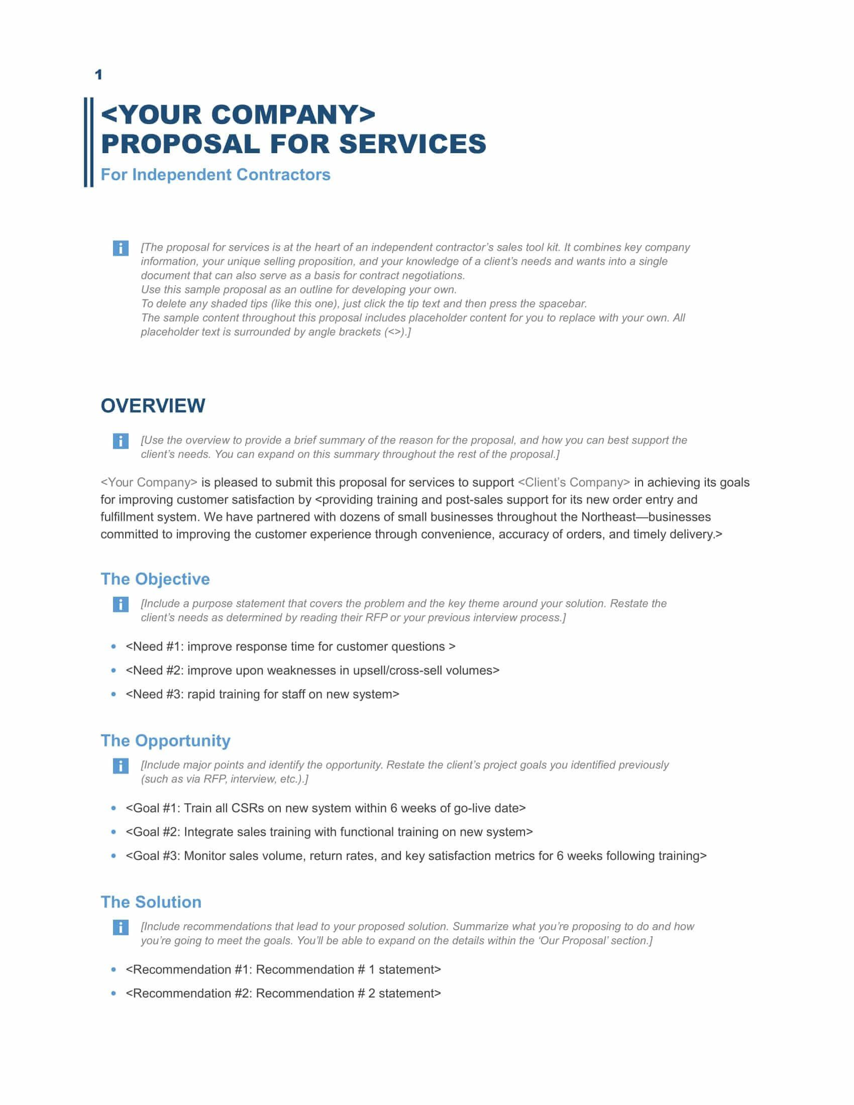 Business Proposal format Template Lovely Download A Free