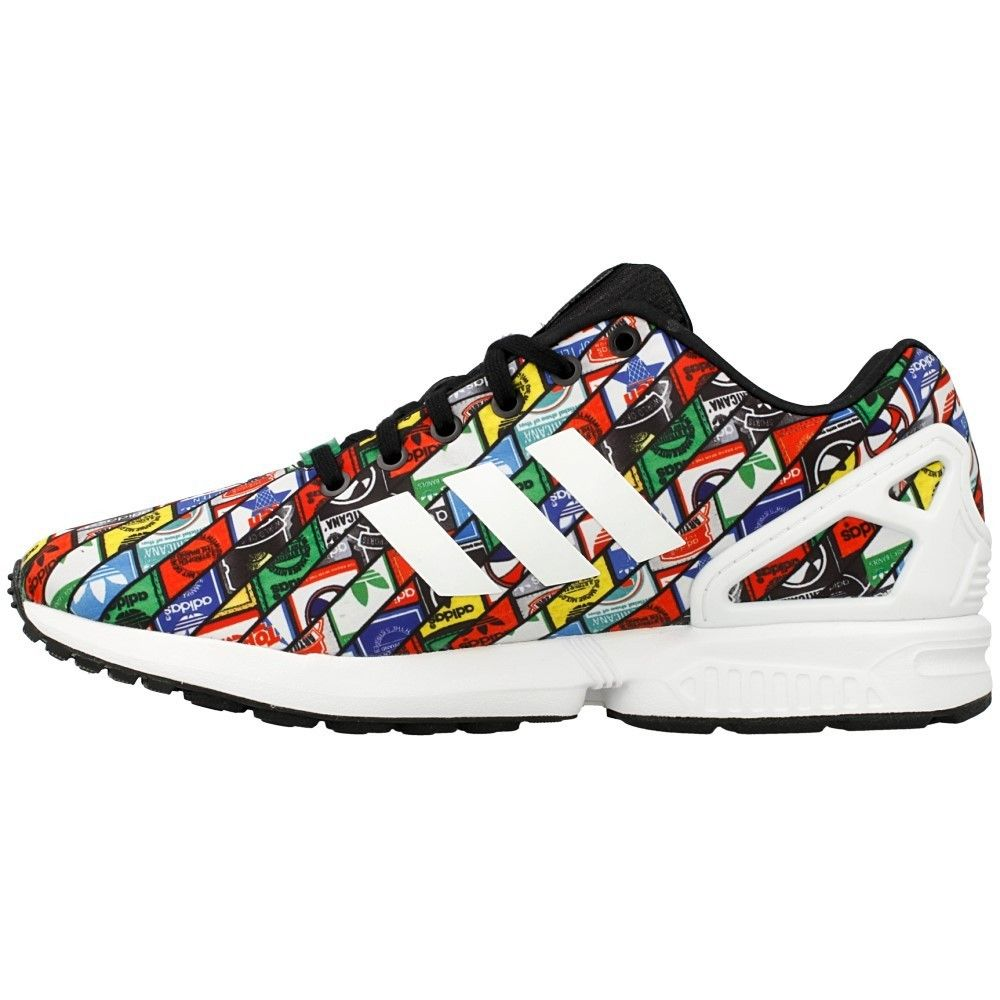 adidas Originals ZX Flux AOP Tongue Labels hombres Multicolor Zapatos B24904