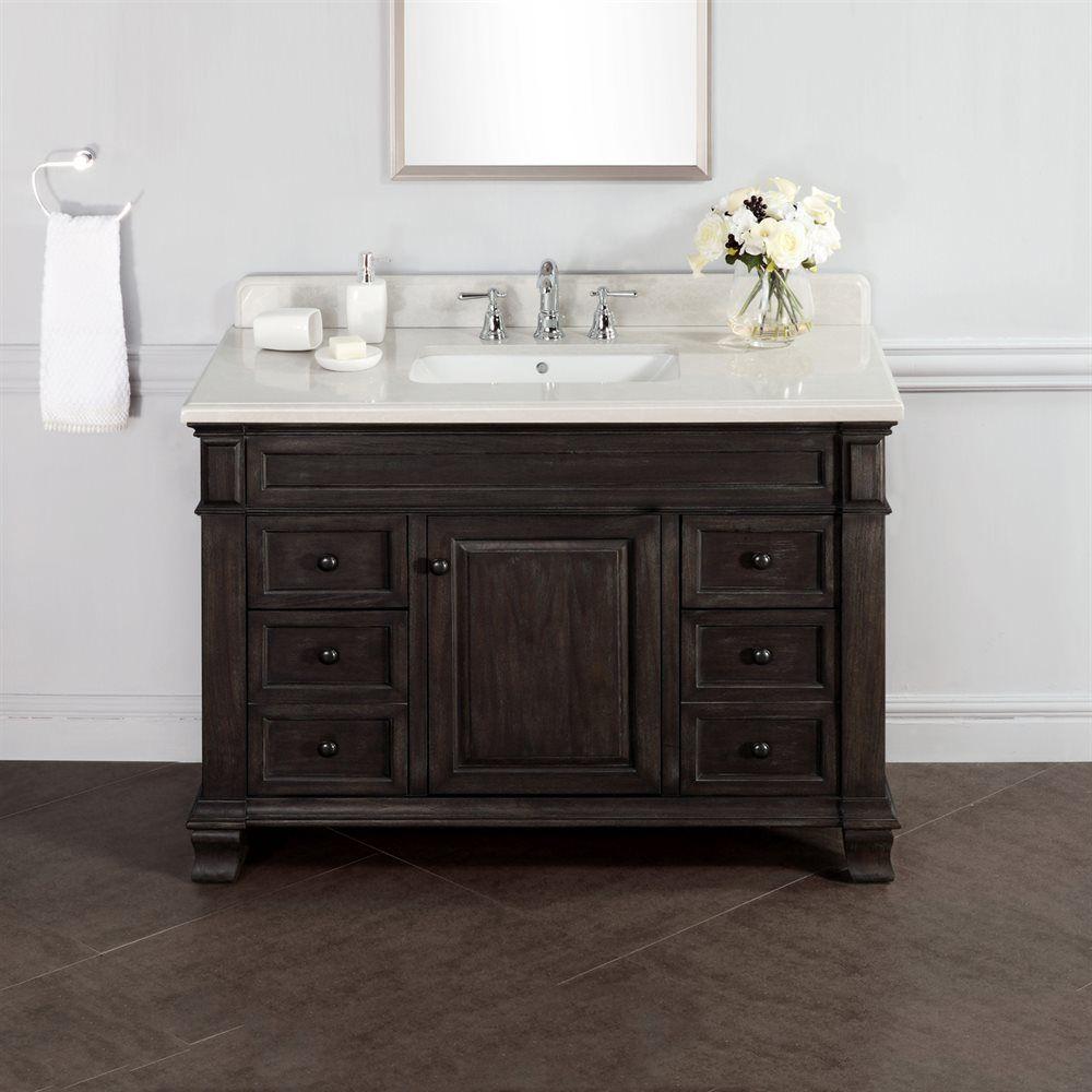 Abel 48 Inch Distressed Single Sink Bathroom Vany Stone Top Http