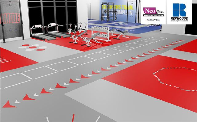 Gym Flooring Make A Visual Impact With Colours And Custom Designs Gym Flooring Flooring Layout