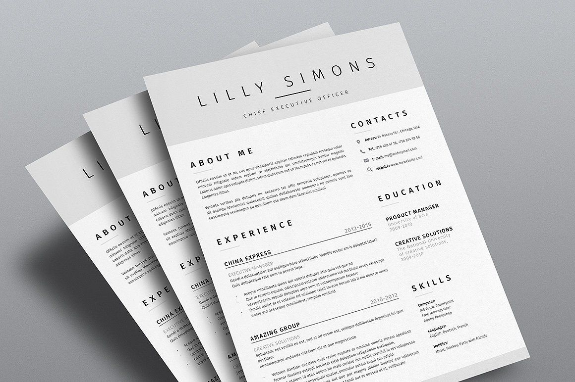 Clean Resume Template Vol.3 Clean resume template