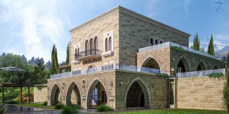Nh Villa House Outside Design Villa Architecture Traditional lebanese house plan