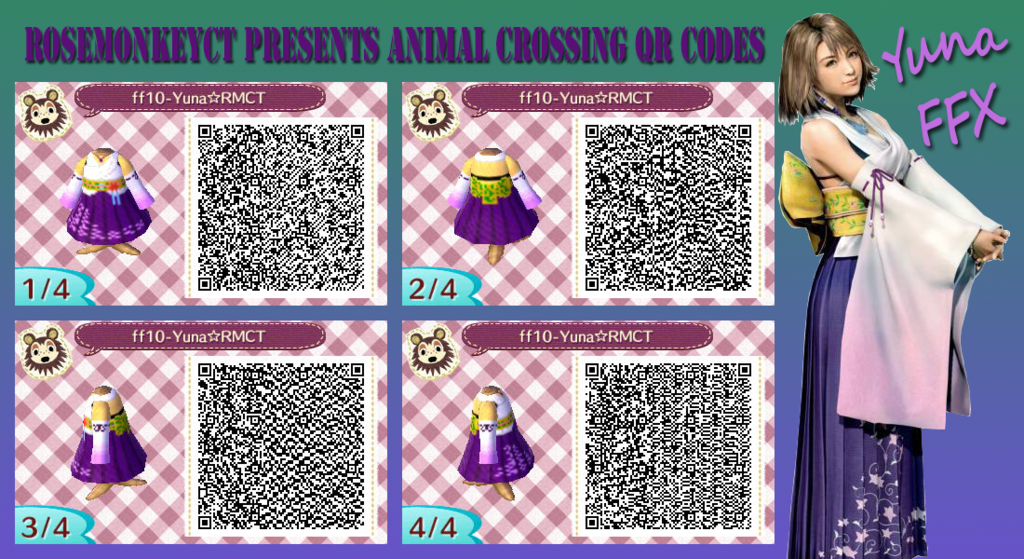 Animal Crossing Qr Yuna Dress Ffx By Rosemonkeyct Deviantart Com