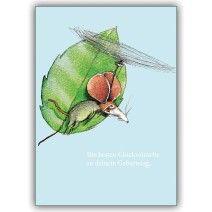 Coole Geburtstagskarte mit fliegender Maus: Die besten Glückwünsche…