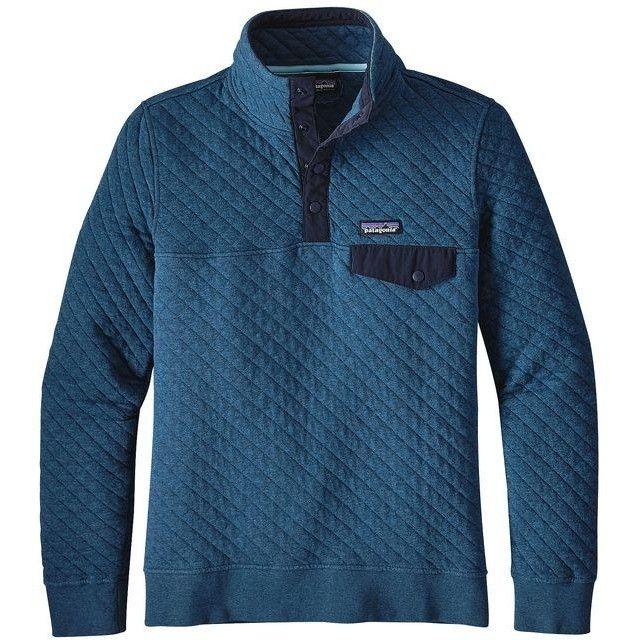 Patagonia Women's Cotton Quilt Snap-T Pullover- Big Sur Blue