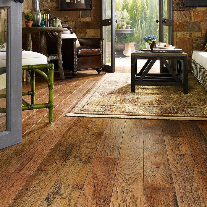 Melrose Hickory 3 4 Thick X 5 Wide X 73 Length Engineered Hardwood Flooring Engineered Wood Floors Hickory Hardwood Floors Hickory Flooring