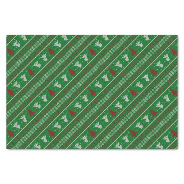 Ugly Christmas Sweater Tissue Paper #christmas #giftwrap #xmas #wrappingpaper #tissuepaper
