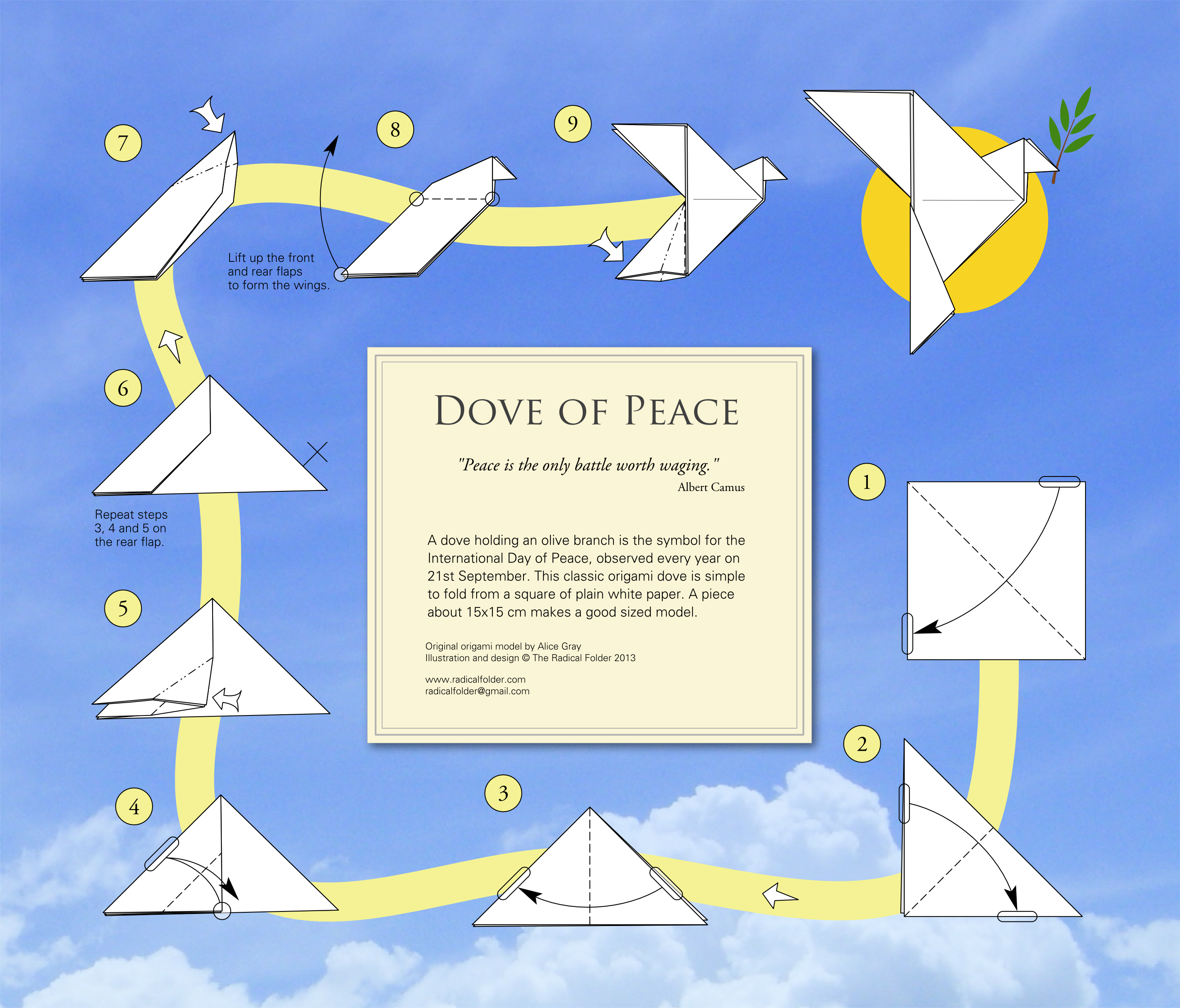 origami dove diagram 2004 impala exhaust system the radical folder paper folding with an edge cards