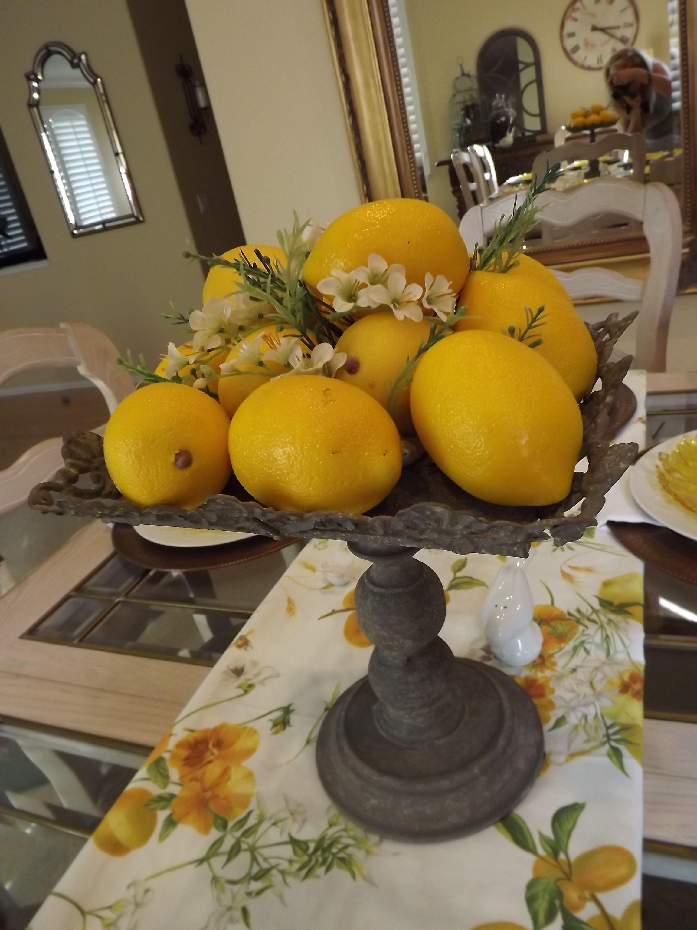 Lemons add a fresh, sunny  touch.