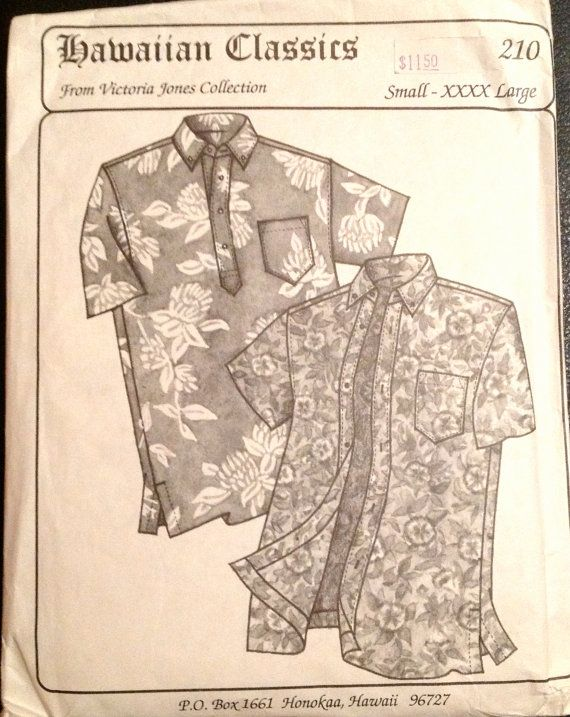 Hawaiian Classics 210 Mens HAWAIIAN SHIRT Pattern 2 Styles ...