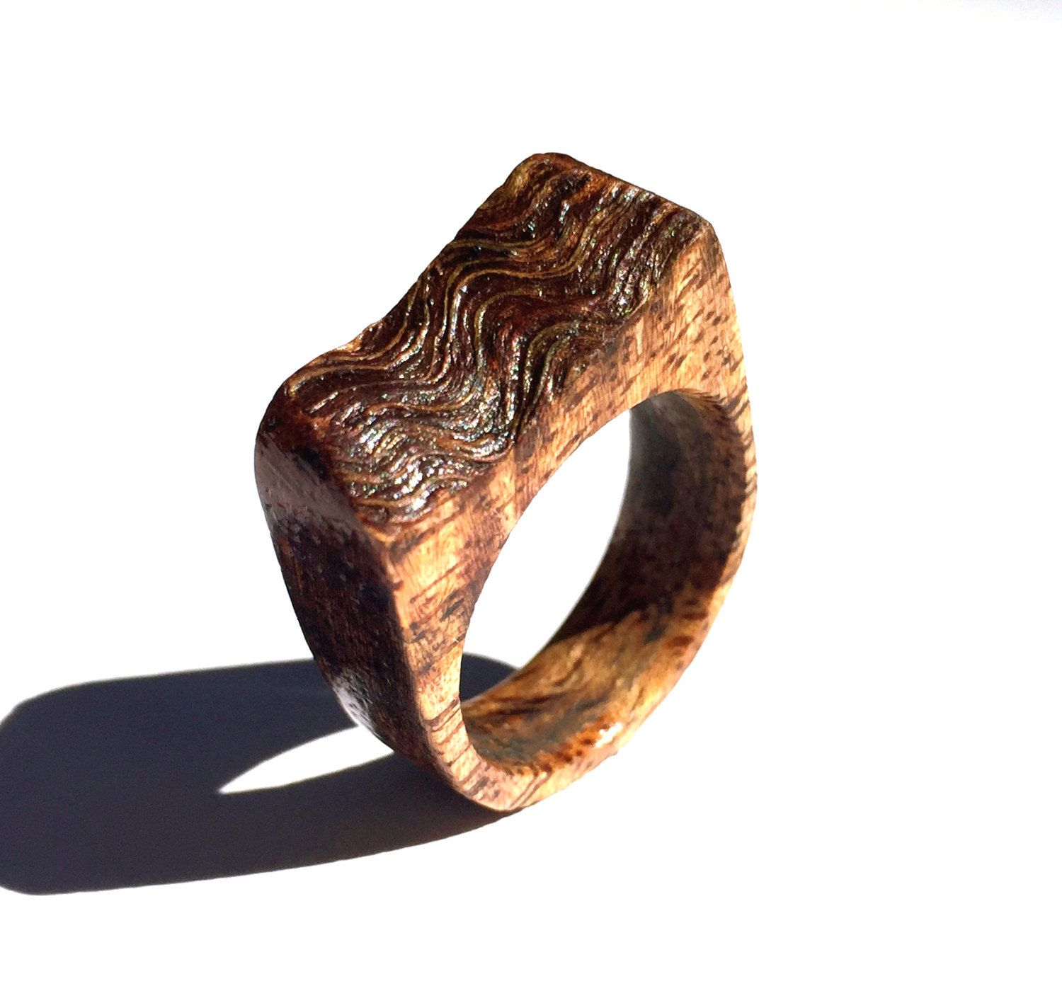 This natural live edge wood ring is a stunning example of natures beauty.  This ring is a beautiful womens wood ring that can be used as a statement  wood ... 48d49f66c