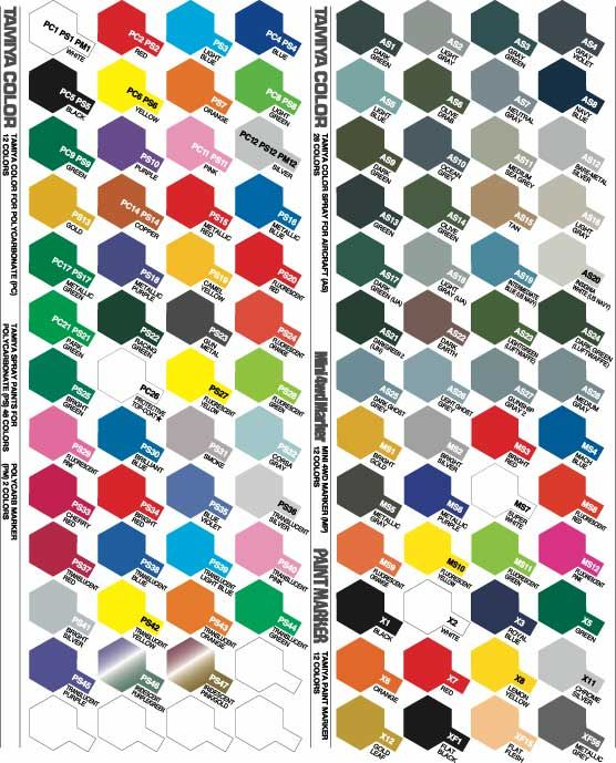 Tamiya Paint Chart Gungozq Eye