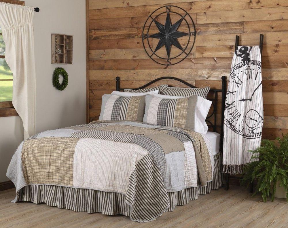 Ashmont farmhouse bedding patchwork quilt set choices