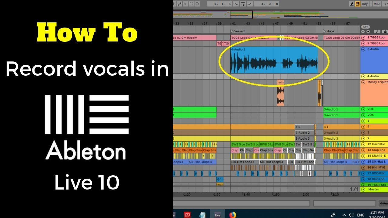 How To Record Vocals In Ableton Live 10 I Made This How To Record Vocals In Ableton Live 10 Tutorial Because I Remember How Difficul Ableton Ableton Live Vocal