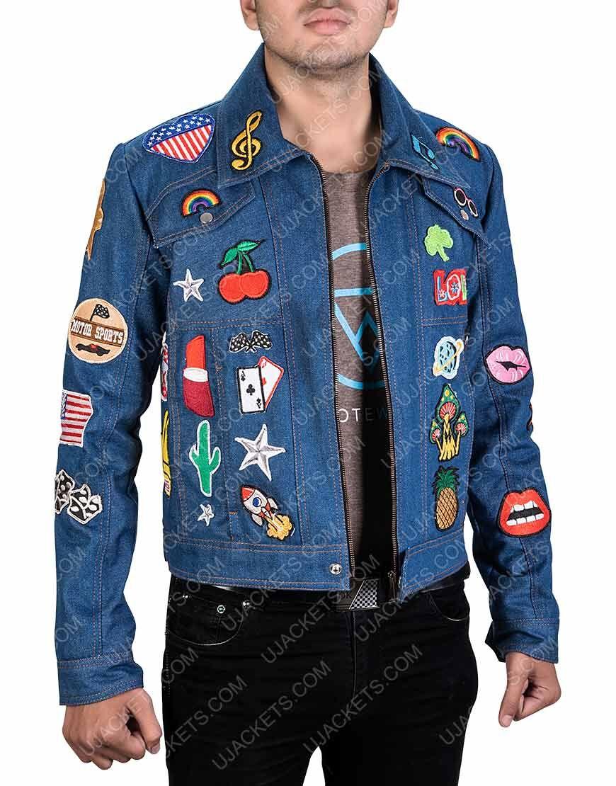 Taron Egerton Rocketman Jacket Elton John Rocketman Jacket Jackets Halloween Jacket Denim Jacket [ 1110 x 870 Pixel ]