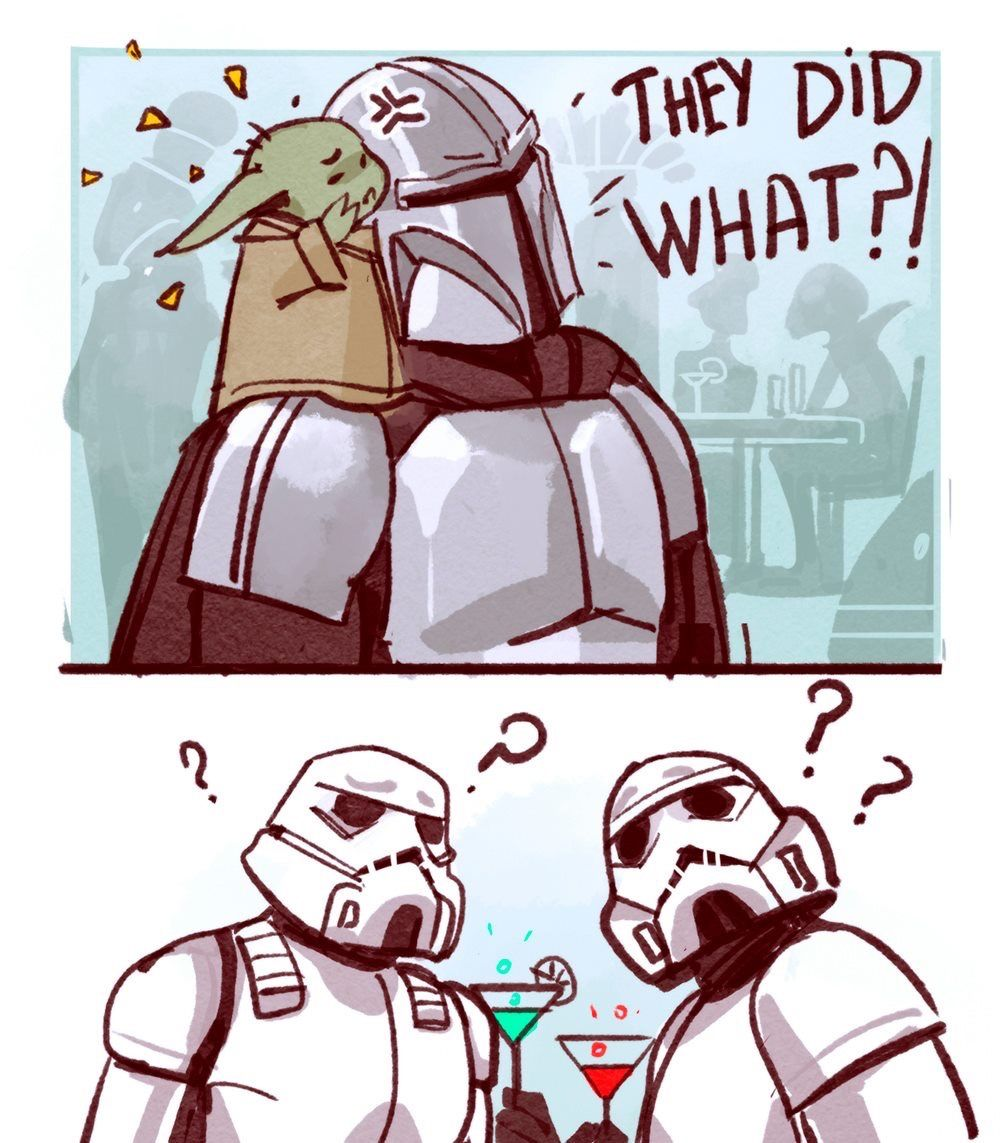 Pin By Leonie On Baby Yoda And That Tin Can Man Star Wars Humor Star Wars Memes Star Wars Artwork