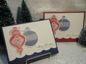 Ornament Keepsakes Christmas Cards…. « For The Love of Stamping