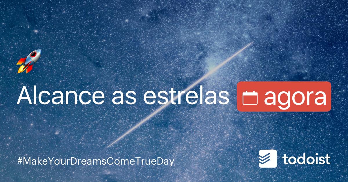 """Curiosidade: hoje é o dia do """"Torne seu sonho realidade"""". Você já começou seu planejamento/ações para chegar lá? 🚀"""
