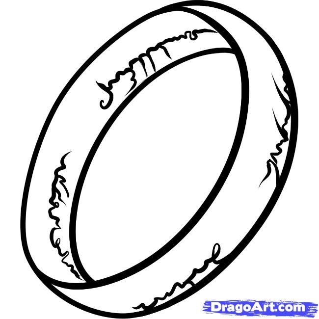 Lord Of The Rings Ring Coloring Pages