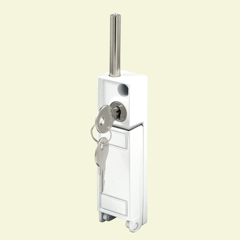 Prime Line White Sliding Patio Door Keyed With Bolt Lock U 9919 The Home Depot In 2020 Bolt Lock Door Bolt Lock Patio Doors