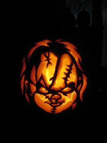 Childs play pumpkin face by elwira9 on deviantart for Creepy clown pumpkin stencil